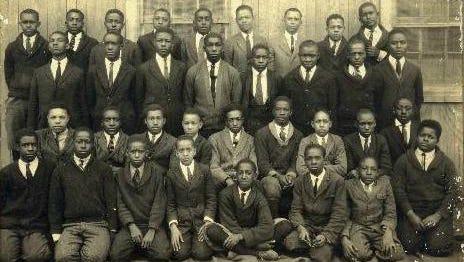 A club photo c. 1925 from a segregated Salisbury High School.