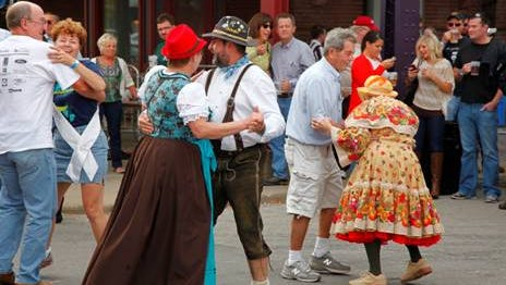 The Polka Club of Iowa dancing at Oktoberfest.