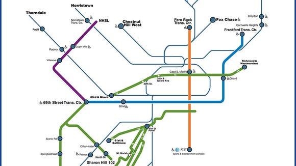 SEPTA Service Map (subject to change) (Photo courtesy of SEPTA)