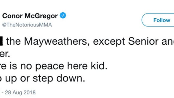 Conor McGregor calls out Floyd Mayweather in profane tweet
