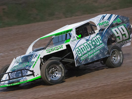 Seymour's Mullen on dirt late model fast track