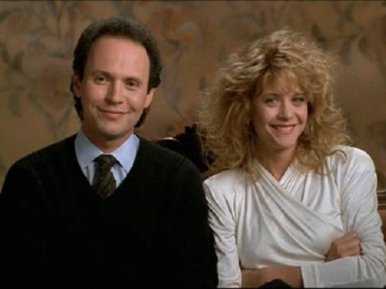"Billy Crystal and Meg Ryan star in the 1989 film ""When"