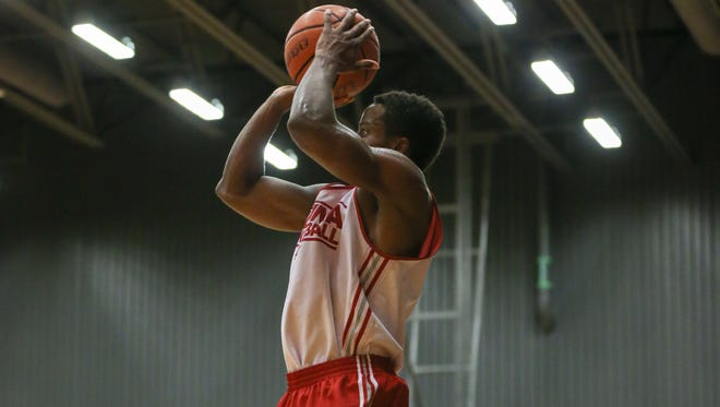 Yogi Ferrell (pictured) scored a game-high 22 points on 8-of-13 shooting for Indiana in Friday's 110-70 win over Laval.