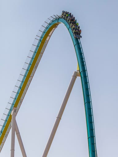 Fury 325 First Drop - Fury 325, the tallest and fastest