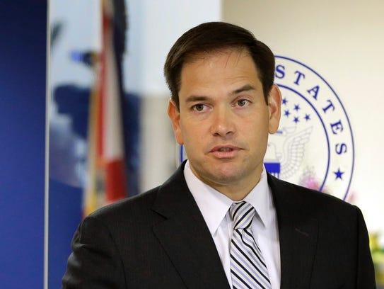 In this June 3, 2016 file photo, Sen. Marco Rubio,