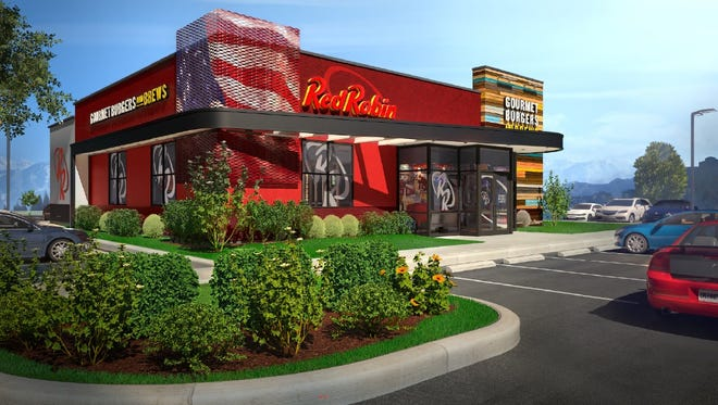 An artist's rendering of the proposed Red Robin restaurant on Rib Mountain Drive.