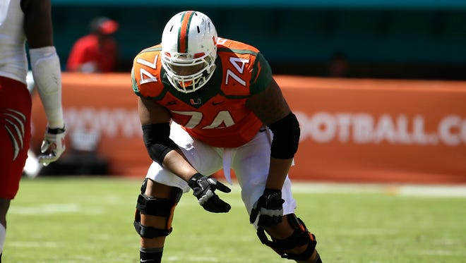 Miami Hurricanes offensive lineman Ereck Flowers