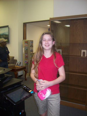Callie Langston was the winner of the children's bunco event at Lumberton Library.