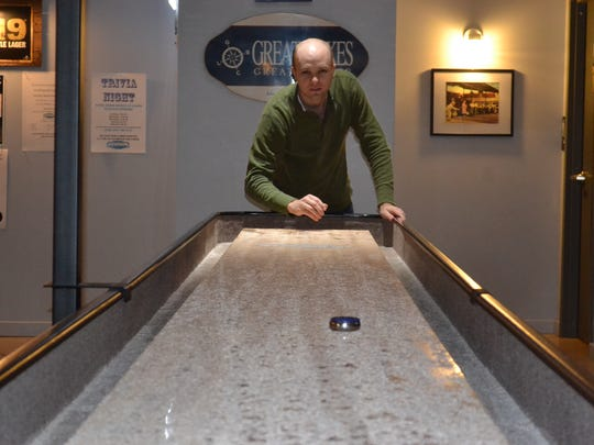 Tabletop shuffleboard has been around for about 500 years, and now local residents can play it at The Erie Social Shuffleboard Club and Bar in Marblehead.