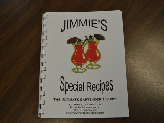 """Jimmie's Special Recipes"" includes dozens of Jimmie Webb's drink recipes, including his popular ""Jimmie's Special,"" which includes ice cream as an ingredient."