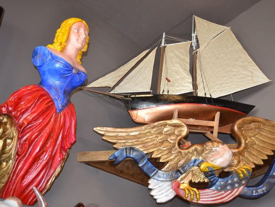 Woody's Boathouse & Gifts sells many unique nautical
