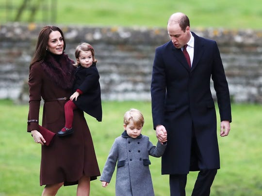 Prince William, Duchess Kate, Princess Charlotte and Prince George at Christmas at St Mark's Church in Englefield, where Pippa Middleton is getting married on May 20.