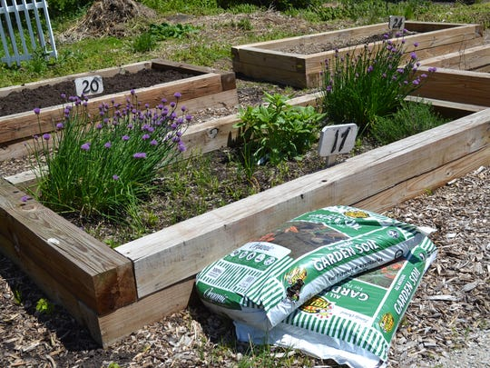 Plants are already sprouting in bed 17 in Port Clinton's community garden. The garden is a project of the Friends of Port Clinton Parks, which will benefit from participation fees obtained through the community-wide garage sales.