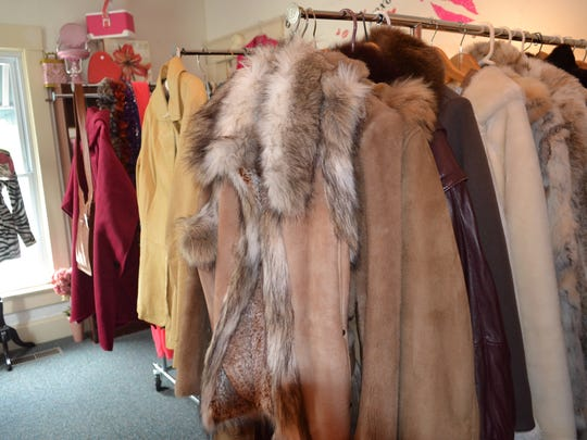 The clothes for sale at Madame Rosie's Boutique range from the 1920s to today.