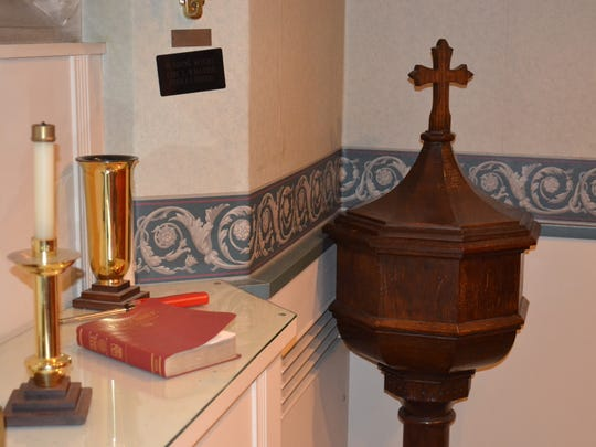 This baptismal font that was once used at St. Paul's