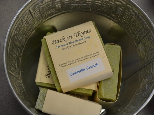 The handmade soaps at Back in Thyme are either organic or all natural.