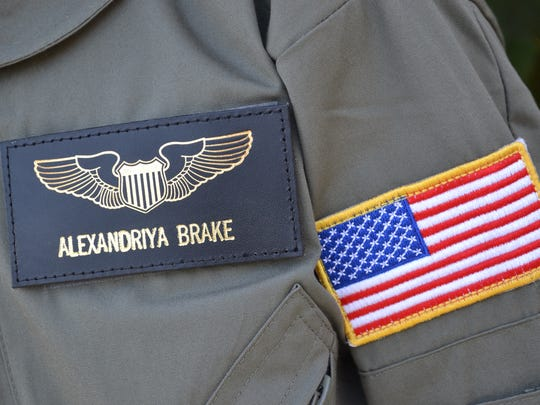 Alexandriya Brake returned home from Space Camp with an astronaut's uniform covered in patches, pilot's wings, a greater understanding of space travel, and a desire to one day become a fighter pilot.