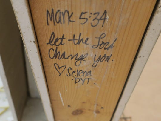 Volunteers who helped build most of Roaring Fork Baptist's new buildings often left messages behind on support beams and door frames.