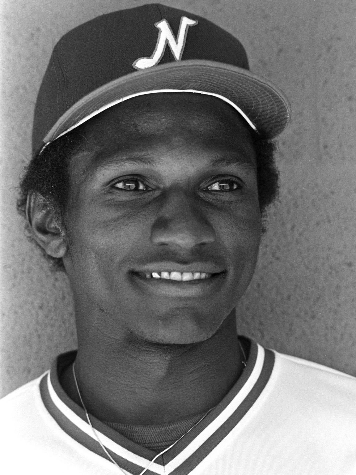 Otis Nixon of the 1981 Nashville Sounds minor AA baseball team.