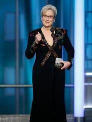 Meryl Streep receives the Cecil B. DeMille Award.