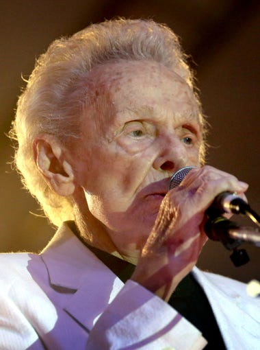 Ralph Stanley takes the main stage opening night of the Uncle Dave Macon Days Festival, on Friday, July 10, 2015.