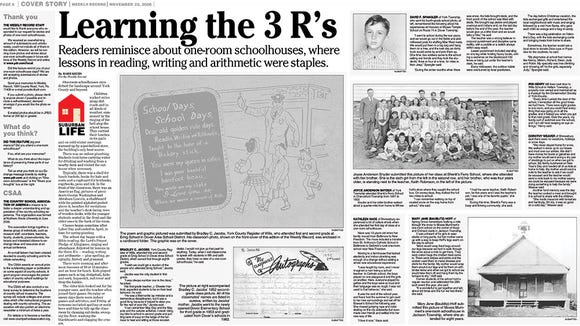 Barb Krebs and Joan Concilio worked together on what started as this feature story in the Weekly Record and became a hardcover book of York County one-room school memories.