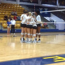 No. 15 ASU volleyball split two matches Friday, losing 3-0 to Louisville and rallying from 2-0 down to beat Northern Illinois 3-2