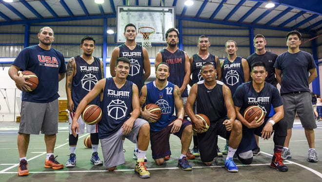 The Guam Men's National Basketball Team holds practice at the Jose Rios Middle School gym in Piti on May 27. 