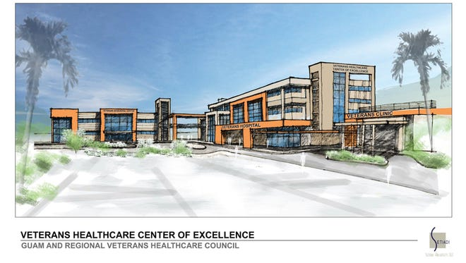 Design firm Setiadi Architects developed sketches of a proposed private hospital for veterans. Courtesy of Peter Sgro, chairman of the Guam & Regional Veterans Healthcare Council.