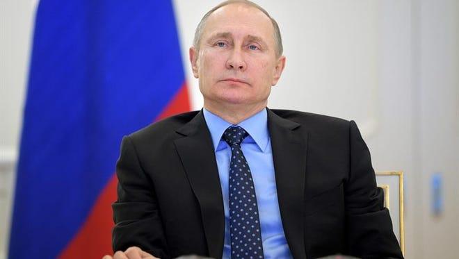 El presidente ruso, Vladímir Putin, durante una conferencia de prensa.