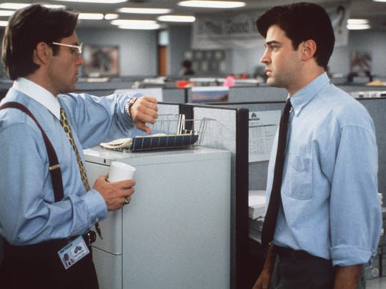 """Gary Cole (left) and Ron Livingston relive every worker's nightmare in """"Office Space."""""""