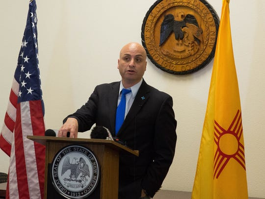 Hector Balderas, the New Mexico Attorney General, announced