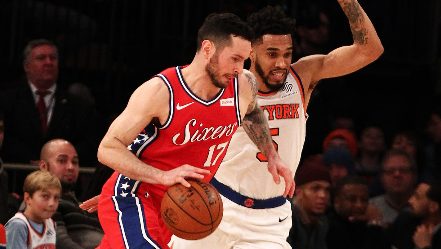 Philadelphia 76ers' J.J. Redick says he was 'tongue tied' in video purportedly showing racial slur