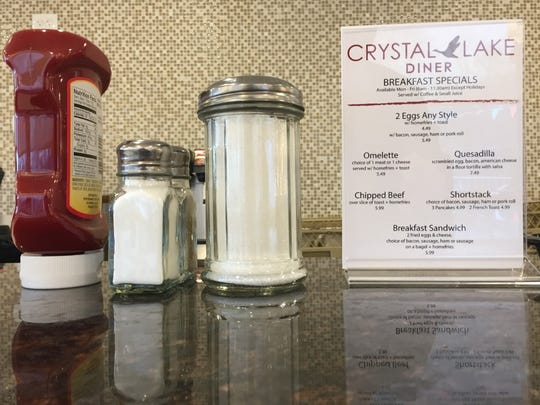 The counter at the Crystal Lake Diner in Westmont is ready for customers.