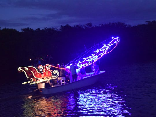 Another favorite was the boat decorated with Santa