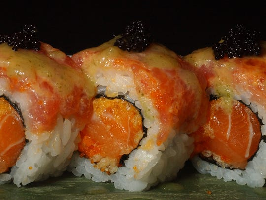 Sushi rolls are served at East Moon Asian Bistro in