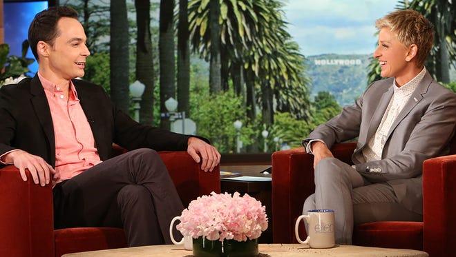 Jim Parsons and Ellen DeGeneres.