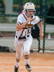 Billingsley's Madison Motley during the AHSAA Softball