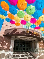 The Umbrella Sky Project adds a rainbow of color to