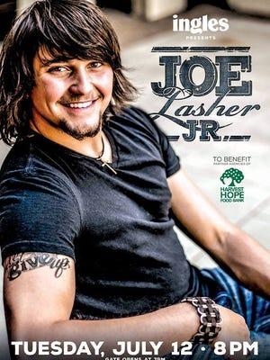 Nashville recording artist Joe Lasher Jr. to perform benefit concert for Harvest Hope Food Bank.