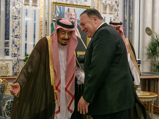 Mike Pompeo, King Salman
