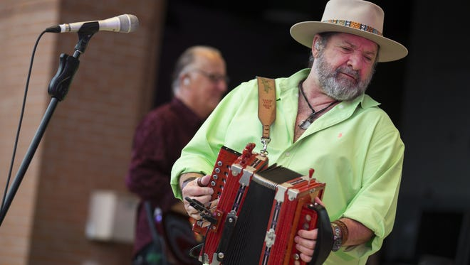 Wayne Toups performs during the Patty in the Parc concert celebrating St. Patrick's Day at Parc International in Lafayette March 17, 2016.