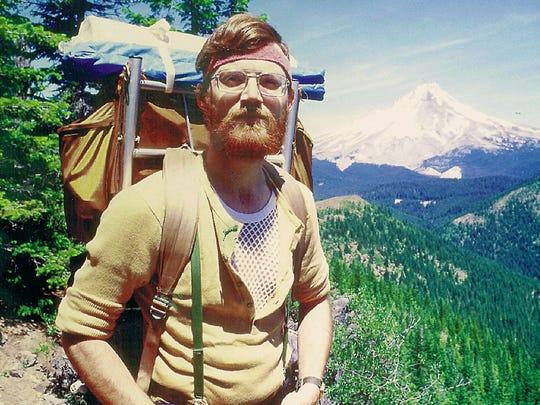 Reid Blackburn hiking in the vicinity of Mt Hood in