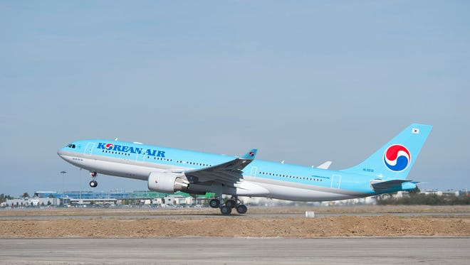 A file photo of a Korean Air Airbus A330.