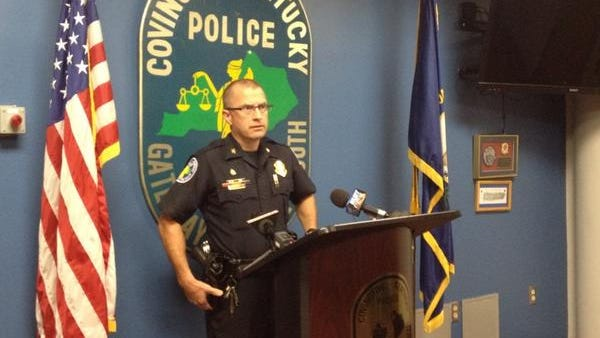 Covington Police Chief Spike Jones addresses media Tuesday about a fatal shooting Monday. Shortly after the press conference police responded to another shooting on the same street.