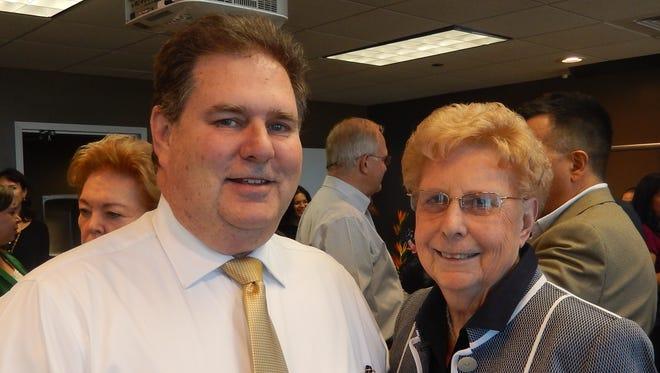 Robert Ash, left, and Myrna Deckert