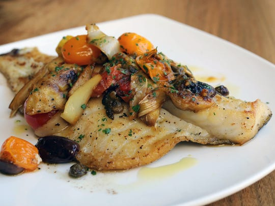 The Branzino at Vento Bistro on Huguenot Street in
