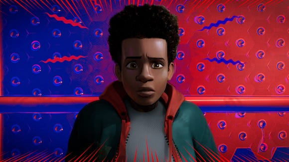 """Miles Morales' Spider-sense tingles in """"Spider-Man: Into the Spider-Verse."""""""