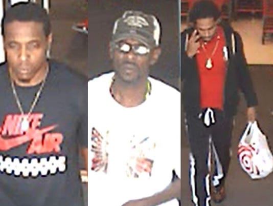 Police are looking for three men who broke into cars in the parking lot of the Planet Fitness in Stuart.