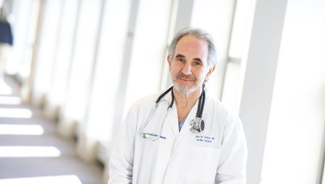 Dr. John Teskey is the most senior cardiovascular surgeon at St. Cloud Hospital.